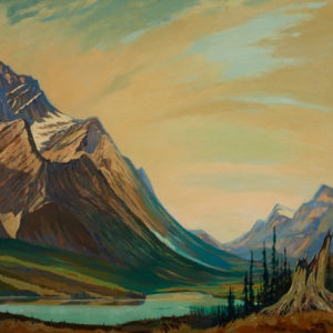 "John Byrne ""Mountain View"" Oil, N.D."