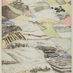 """Susan Ford """"Prairie Quilt"""" Etching, N.D."""