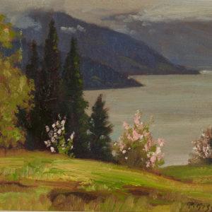 "Roland Gissing ""Spring, B.C. Interior"" Oil, N.D."