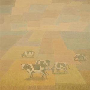 "Barbara Roe Hicklin ""Cows"" Watercolour, N.D."