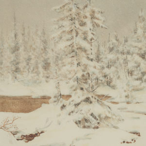"Jacki ""Winter Scene"" Watercolour, 1977"