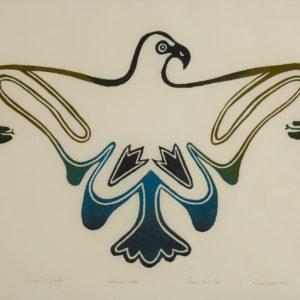 "Keeleemeeoomee ""Serpent Bird"" Stonecut Print, 1970"
