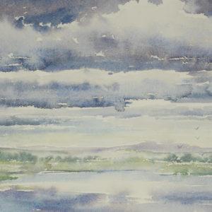 """Jeanette McClelland """"Landscape"""" Watercolour N.D."""
