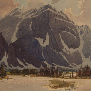 "Bernard Middleton ""Mount Fryatt"" Watercolour, 1930s"
