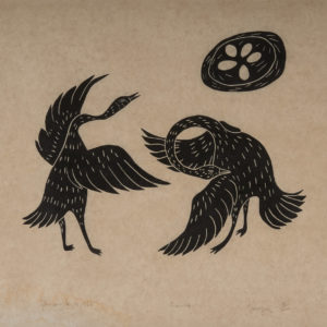 "Nanugak ""Geese"" Stonecut Print, 1966"