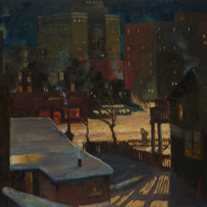 "Jim Nicoll ""Night Scene"" Oil, N.D."
