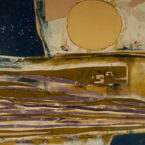 "Marion Nicoll "" Long Cold Prairie Winter"" Mixed Media, 1965"