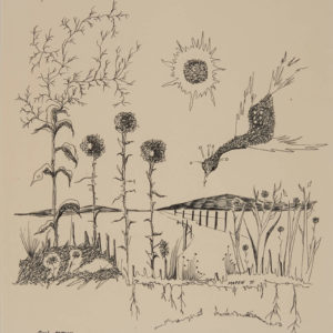 "Mark Quigley ""Sun Struck"" Pen & Ink, 1975"