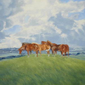 "Richard Roenisch ""Grazing in the Foothills"" Oil, N.D."